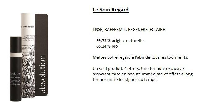 Soins regard